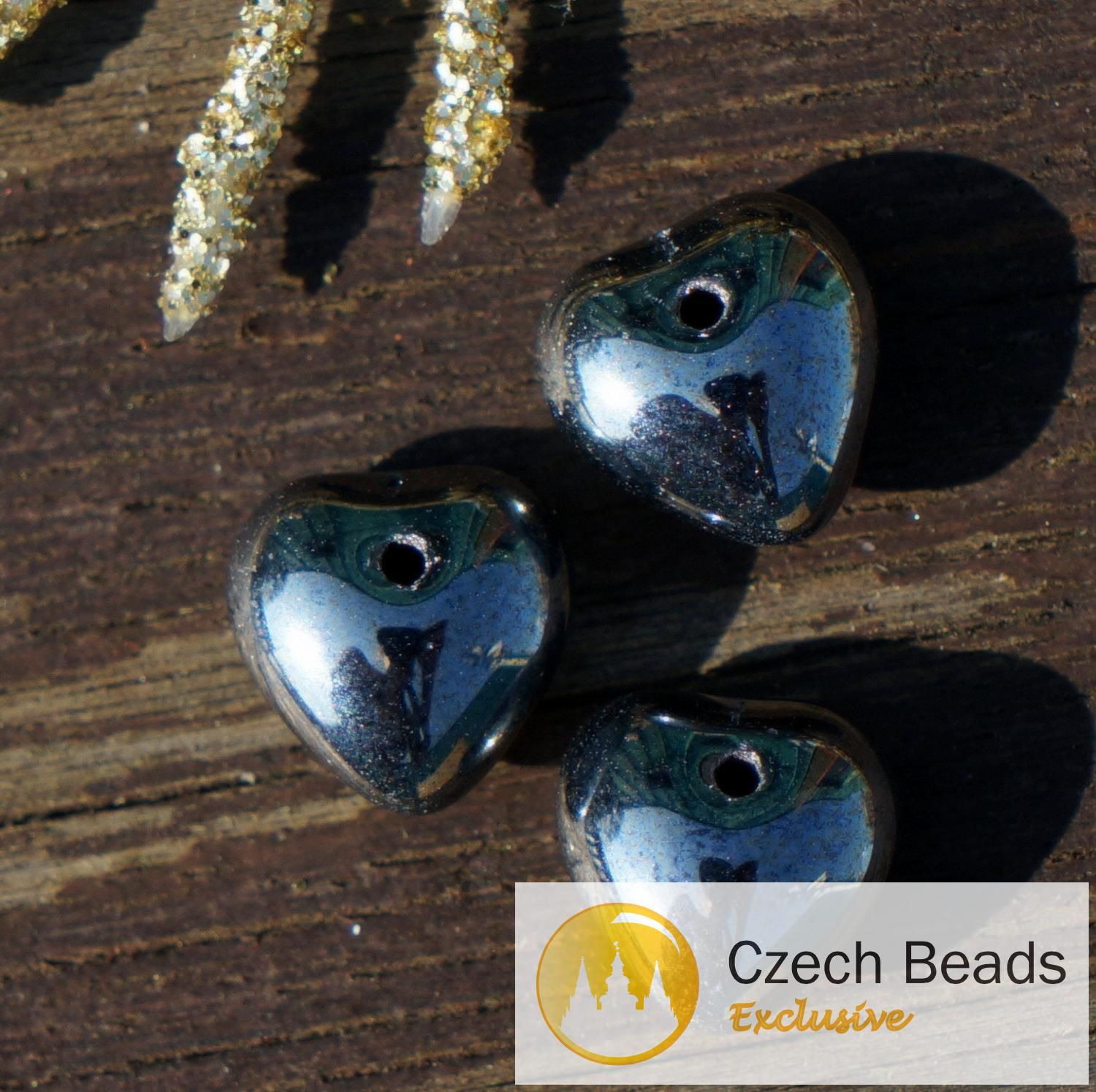 Czech Glass Fire Polished Beads in Brown Carmen Metallic Pearl Faceted Pearls