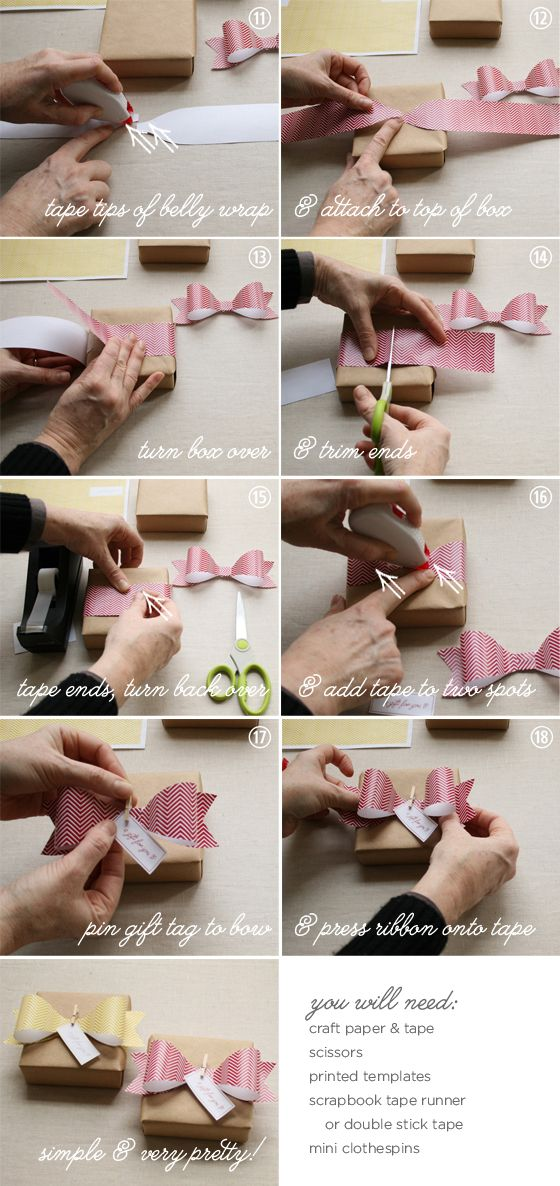 DIY paper ribbon tutorial -- with free printable bow template