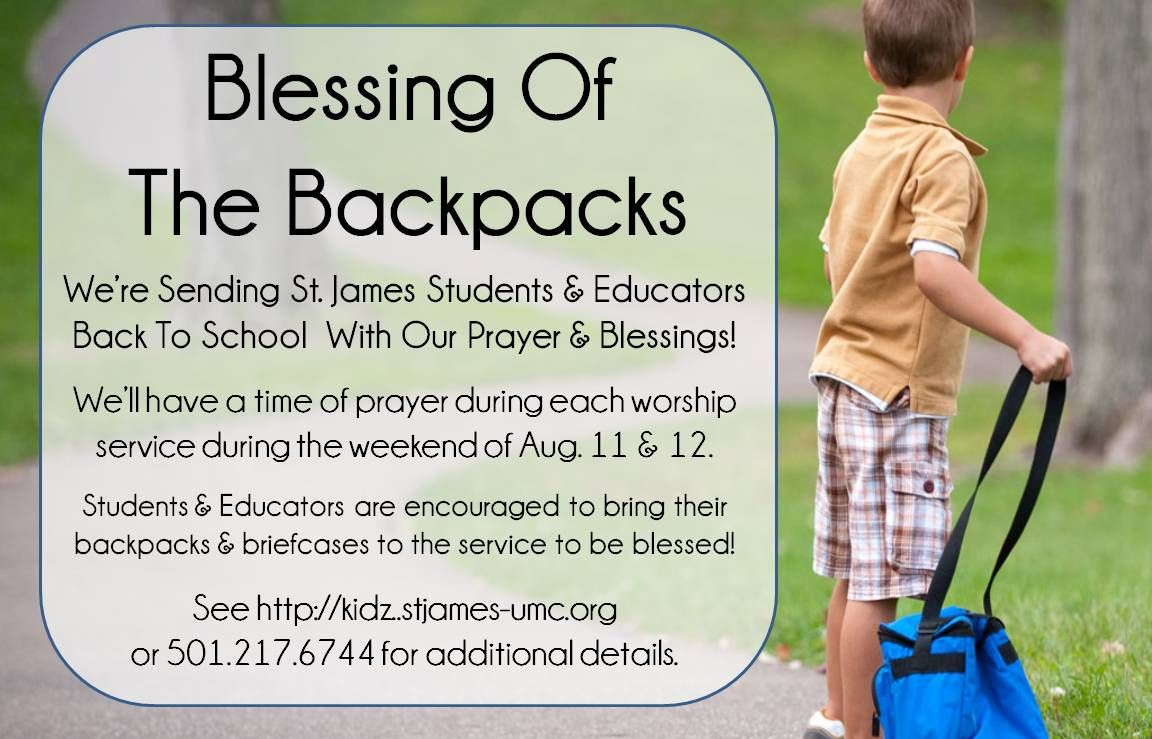 21ffc14489a3 Blessing of the Backpack