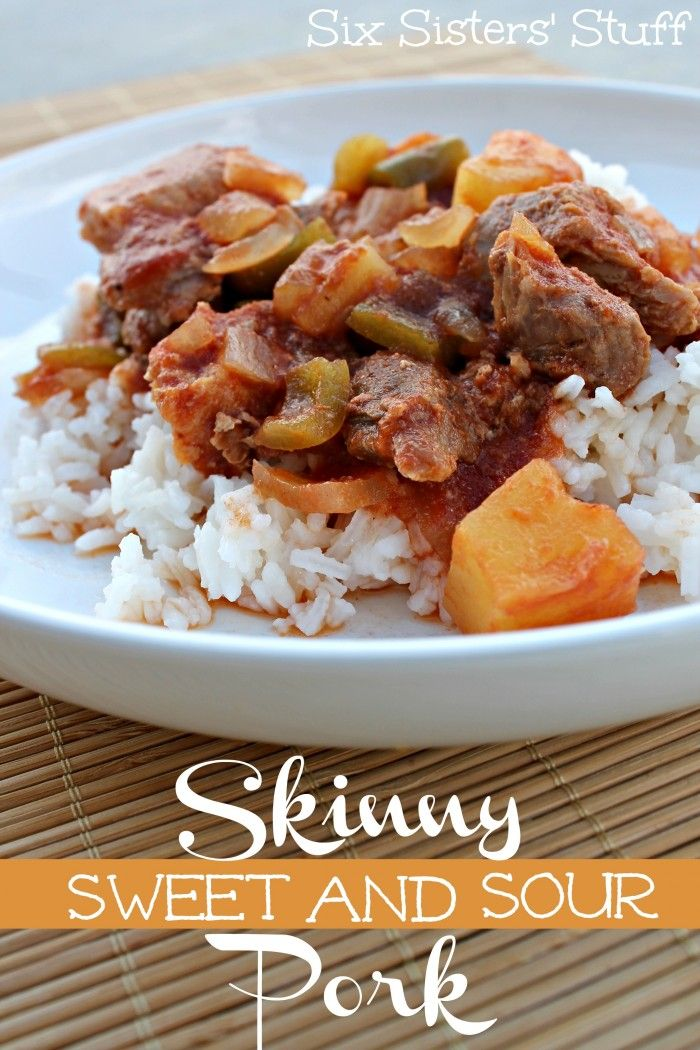 Skinny Slow Cooker Sweet and Sour Pork - This is perfect if you are trying to eat a little healthier!
