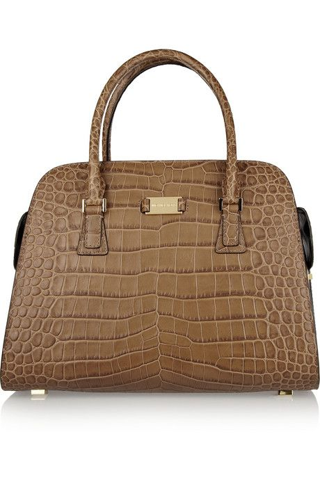 mmmm need or want  - Michael Kors Gia croc-effect leather tote ... 9b366eb048c7c