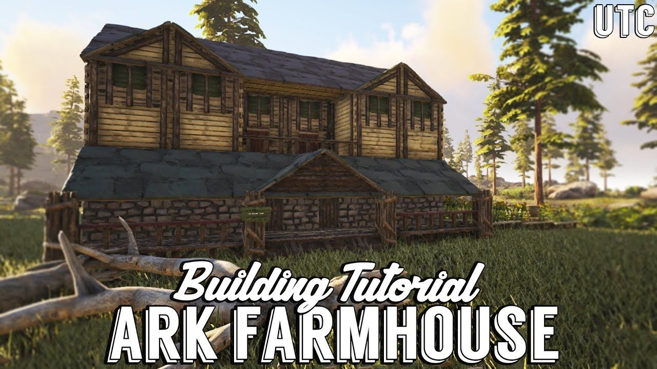 Ragnarok Farmhouse Ark Building Tutorial No Mods How To Build A Large Wooden House Youtube Ark Survival Evolved Bases Ark Survival Tent