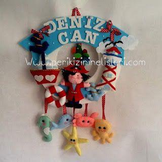 peri kızının el işleri: Korsan temalı bebek süsleri