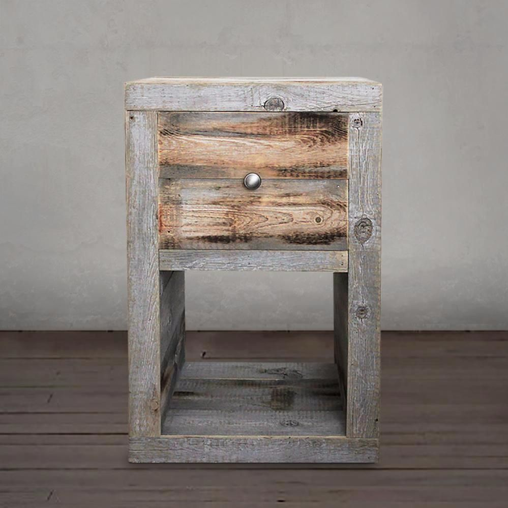 Reclaimed Wood Nightstand End Table Free Shipping Reclaimed