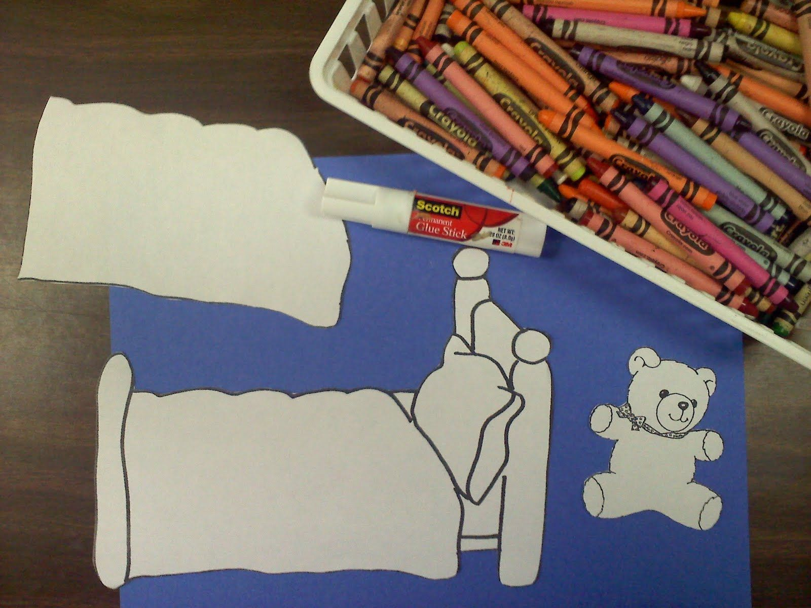Used this as the craft after drop in bedtime stories for Kids craft bed