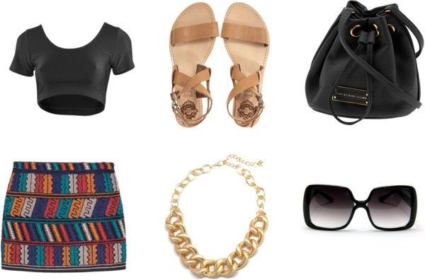 """Saia étnica"" by beearafaela on Polyvore"