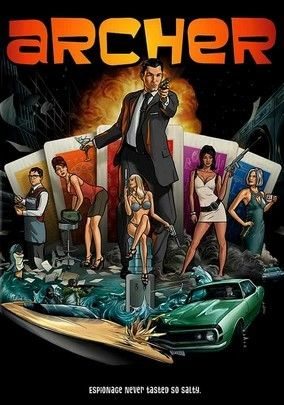 Archer (2009) Sophisticated spy Archer may have the coolest gadgets, but he still has issues when it comes to dealing with his boss -- who also happens to be his mother -- in this wicked animated spoof of spy flicks and the sex-crazed agents who populate them.
