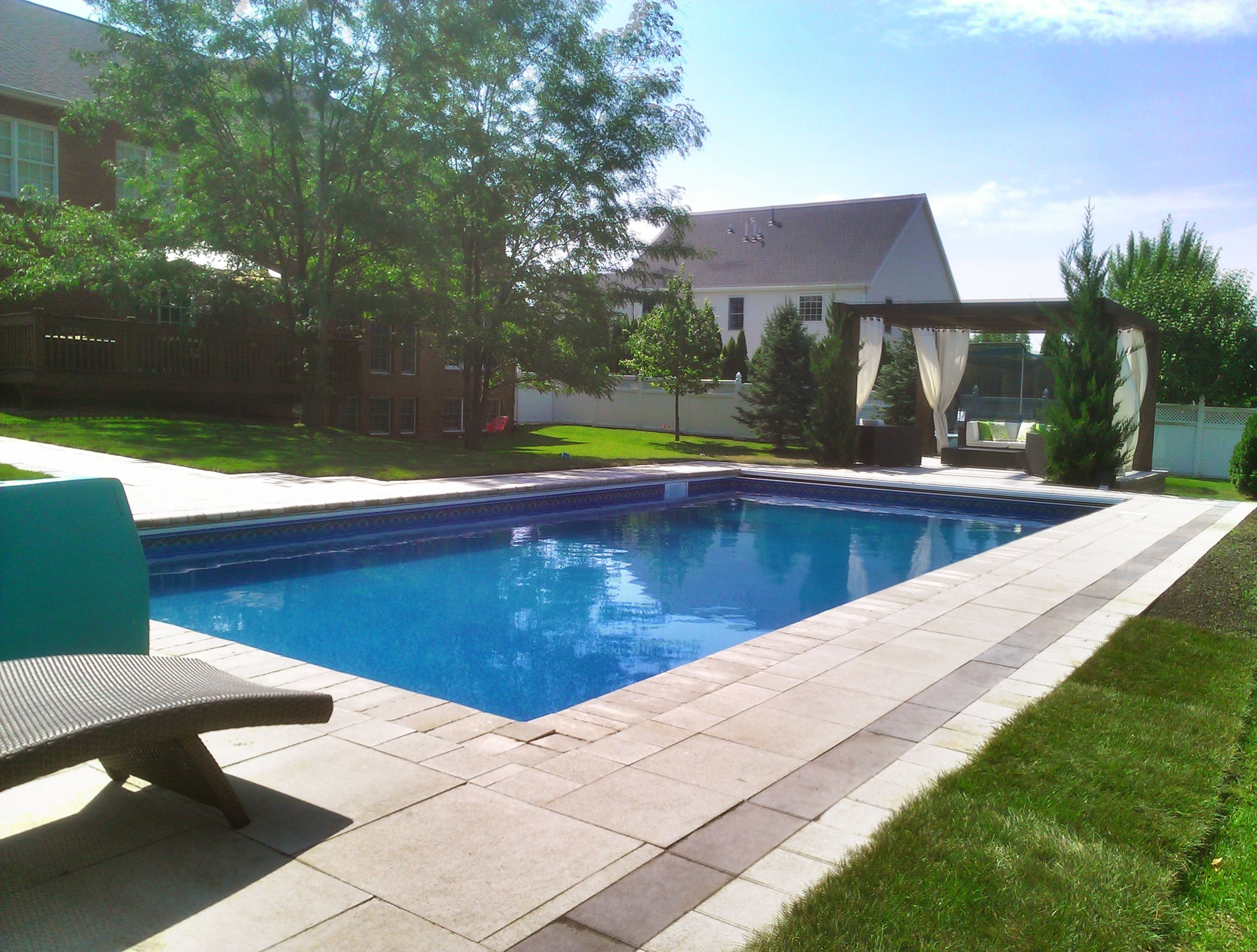 Great Pool Deck | Backyard, Outdoor living
