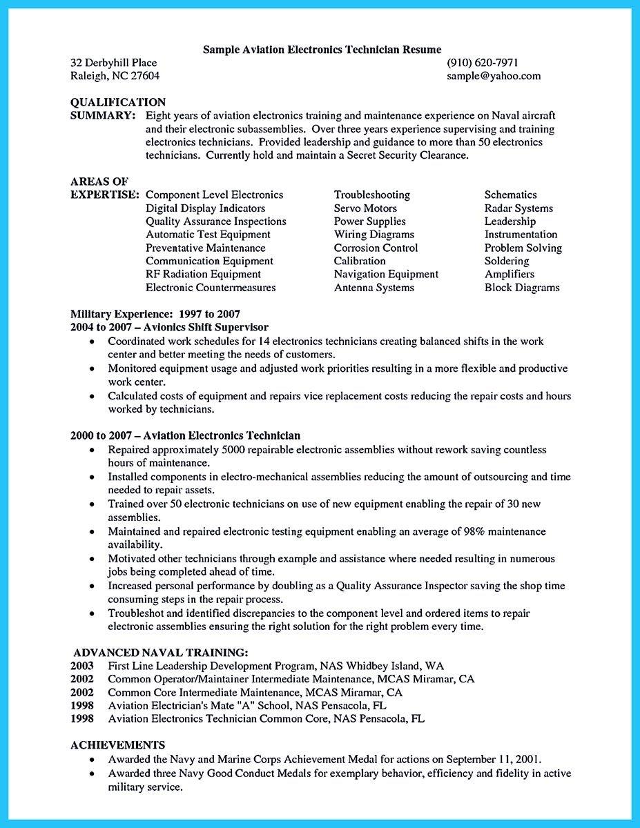 Avionics Technician Resume Engineering Technician Resume Cover  resume examples  Resume