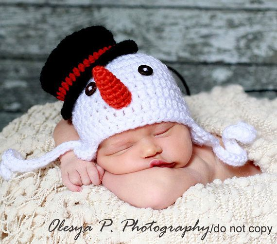 Download PDF crochet pattern 044 - Snowman earflap hat - Multiple ...