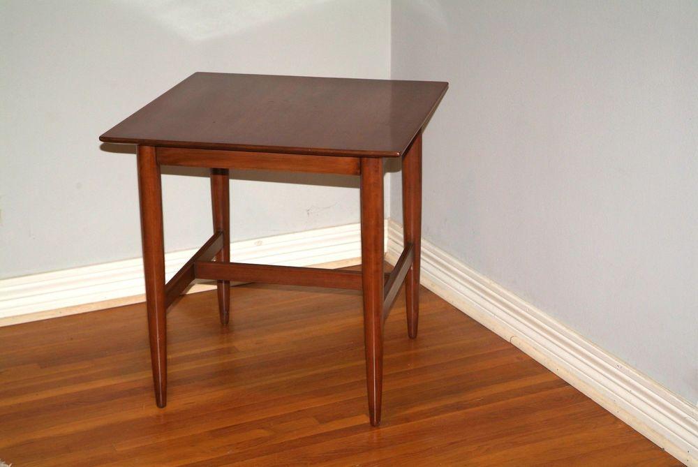 Best Vintage Mid Century Modern Table Willett Solid Cherry 400 x 300
