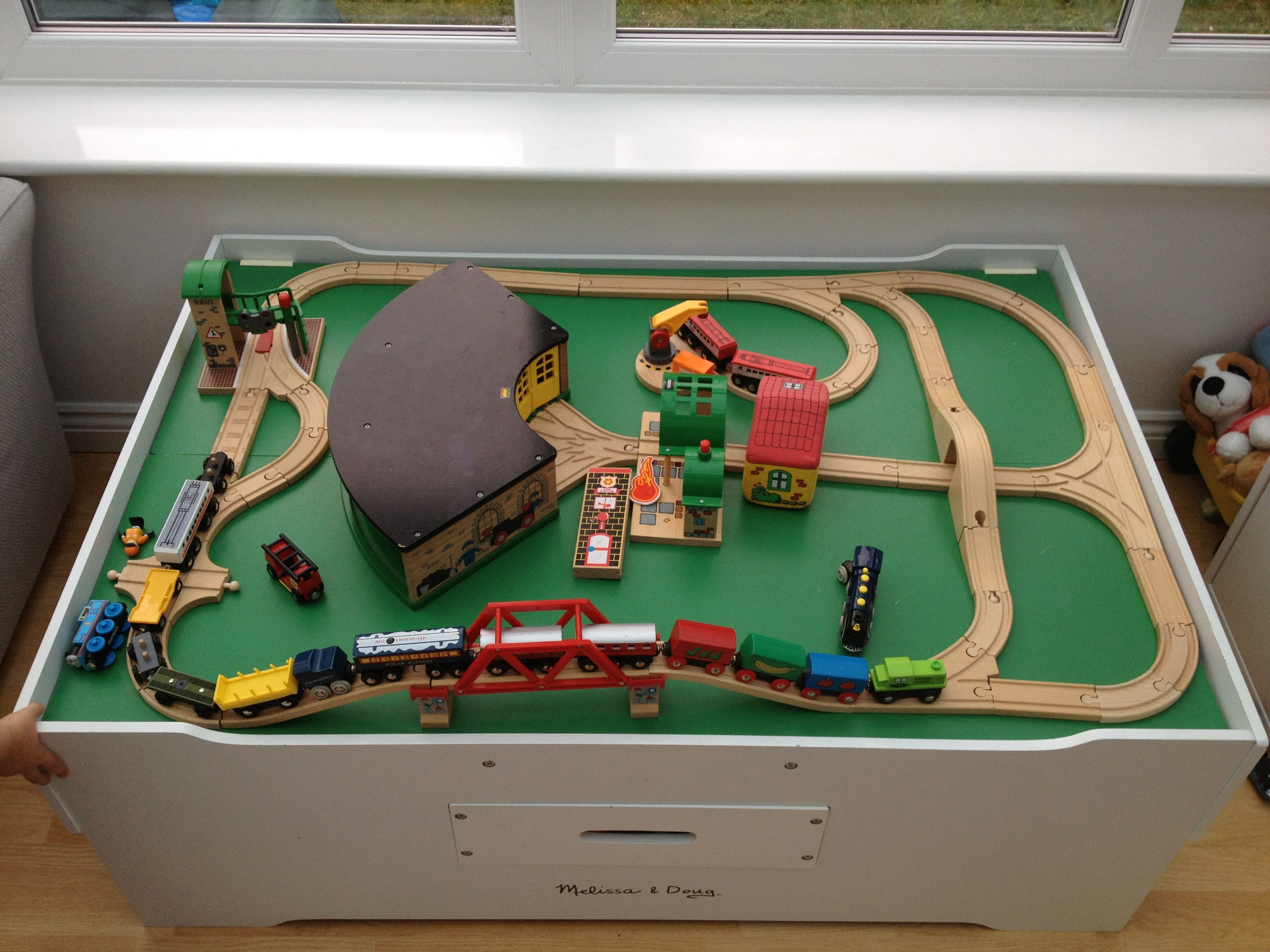 Clickety clack the trains are on the track, and heading over the ...