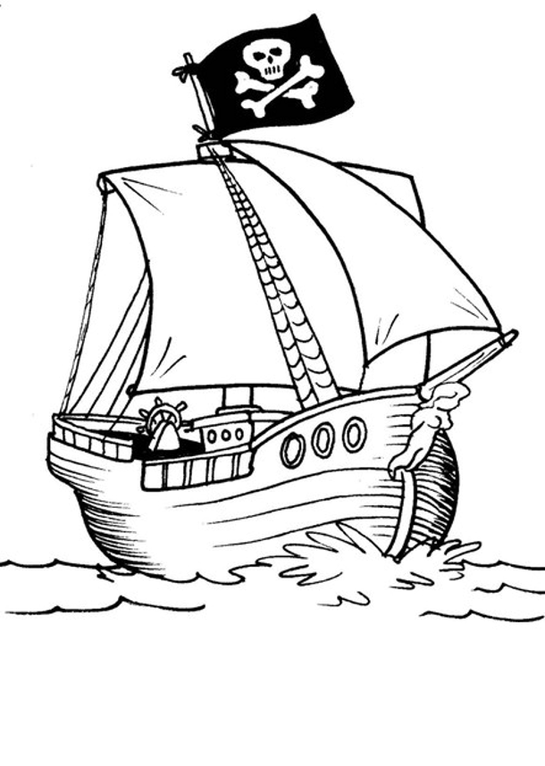 Malvorlage Piraten Totenkopf