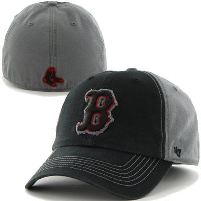 88becf1e5e350 47 Brand Boston Red Sox Plasma Franchise Fitted Hat - Black Charcoal ...