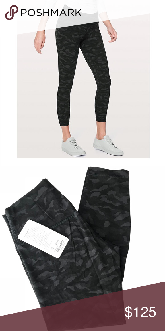 0b5ac24ad26a9 Lululemon Sequoia Camo Align Pant Size 8 NWT Buyers remorse. Price is firm  for these, sorry. Out of stock item. Black camo print. Smoke free & pet  friendly ...