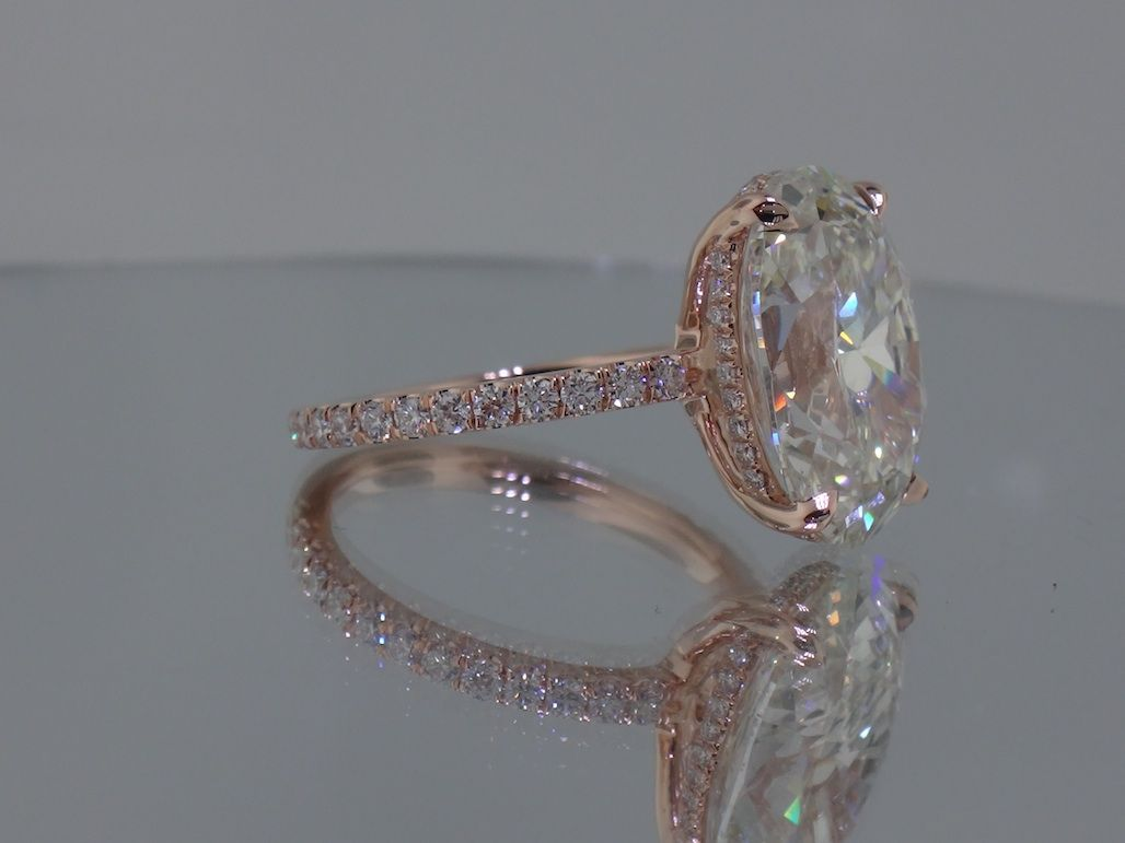Josh Levkoff Collection Rings Rose Gold Oval Custom Engagement