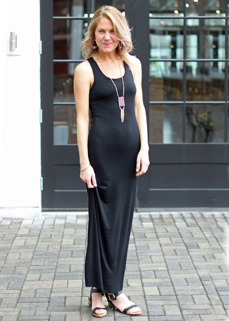 Luna maxi dressblack black maxi dress casual maxi dress black