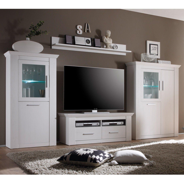 Wohnzimmermobel Eiche Modern Fernsehschrank Glas Hifi Tv Rack