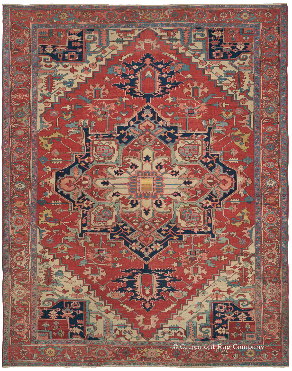 Learn More About Northwest Persian 19th Century Serapi Rug Antique Rugs In The Village Tradition Claremont Company