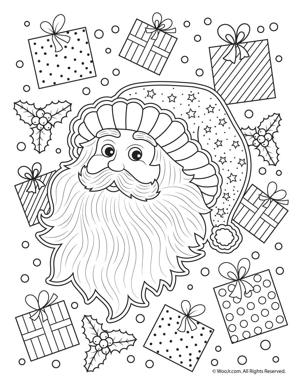 Santa claus adult coloring pages