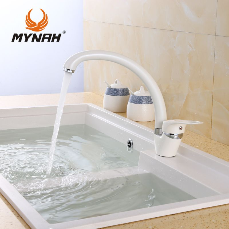 Superbe MYNAH Kitchen Faucet Mixer Water Tap Single Holder Single Hole Kitchen  Grifo Rotation Rubinetto Cucina Faucets