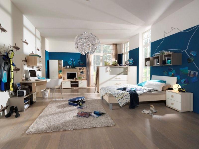 Jugendzimmer Blau/Weiß Gestallten