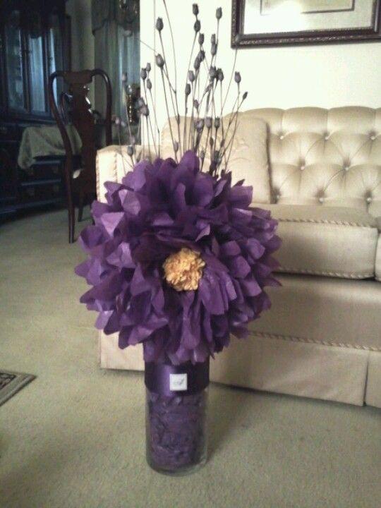 tissue paper centerpiece flower
