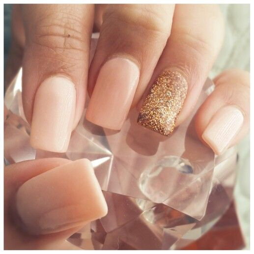 Rose Gold And Blush Nails Royal Touch With Acrylic Game Nail