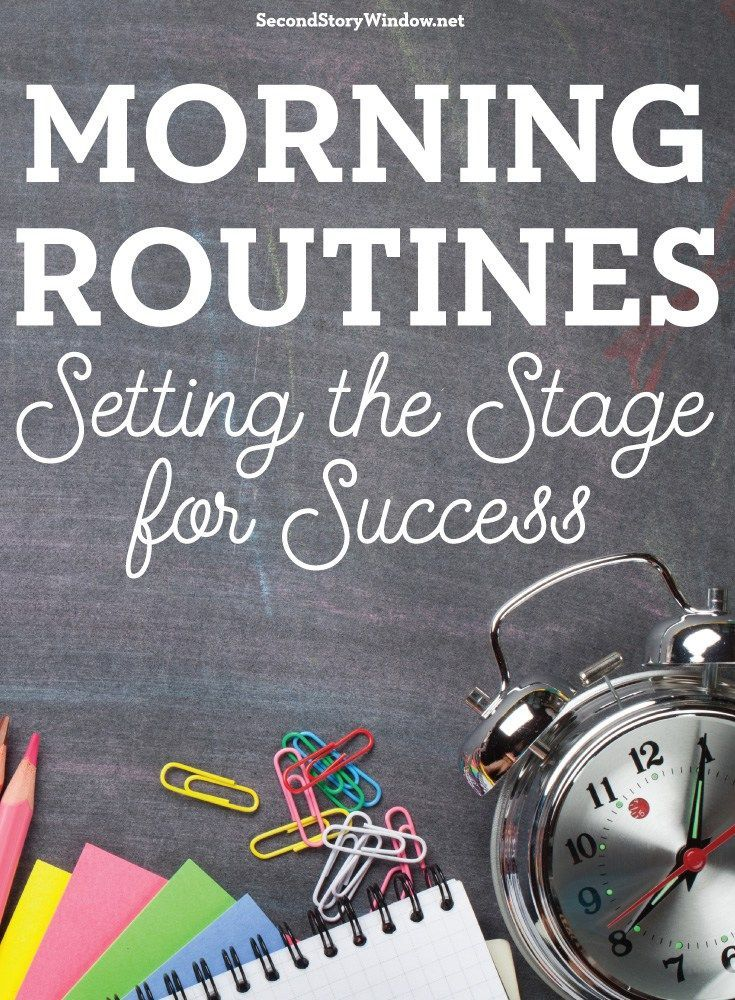 Morning Routines Setting The Stage For Success Lesson Plans