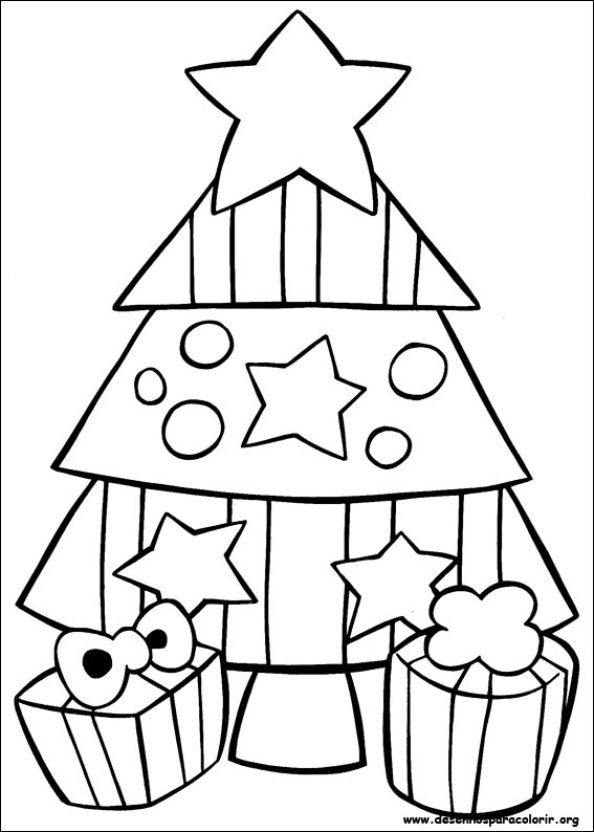 Arvores De Natal Para Imprimir E Pintar Natal Colorir Desenho