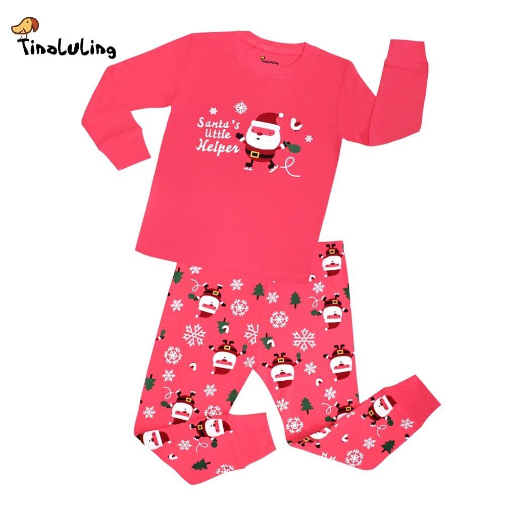 Dinosaur Pajamas for Boys Christmas Children Pjs Cotton Sleepwear Set Toddler Kids Clothes 7t