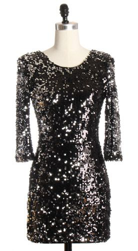 Never too early to find a new years even dress - Black Sequin ...