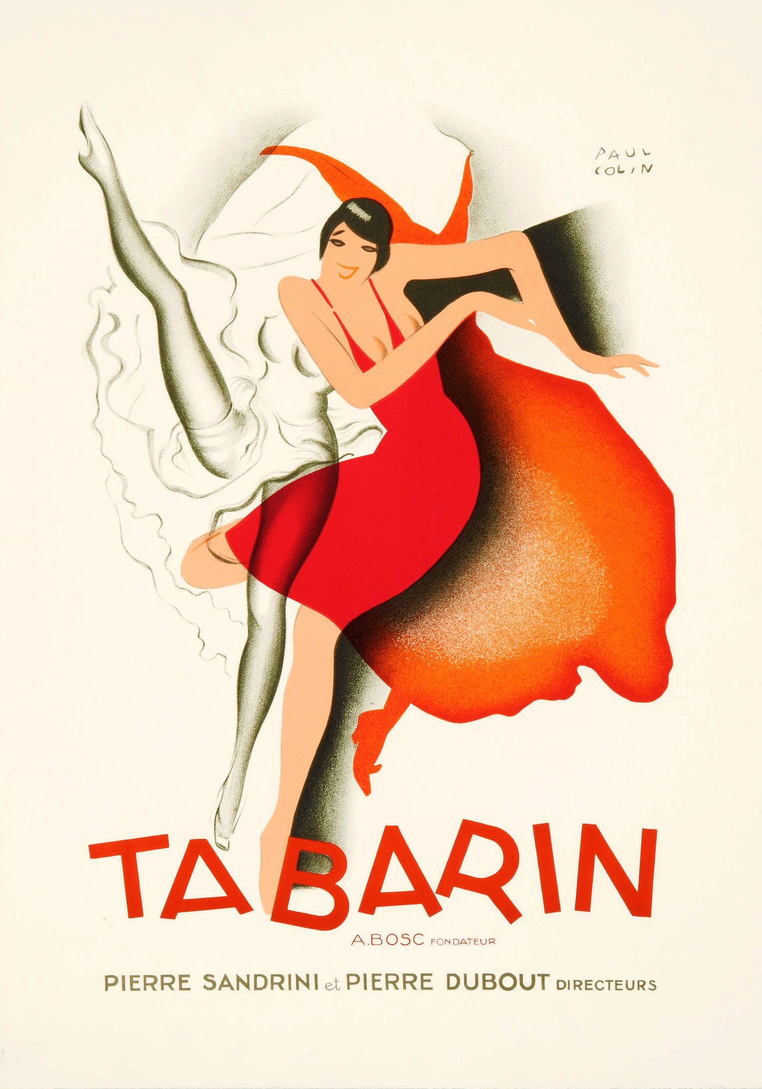 PAUL COLIN. Tabarin. 1924. Cafe posters, Vintage posters