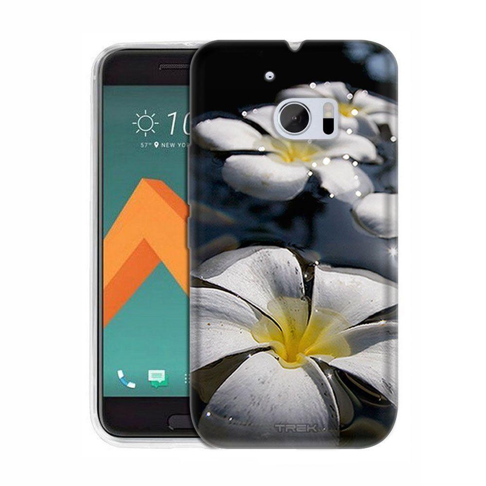 HTC 10 White Plumerias on Water Slim Case