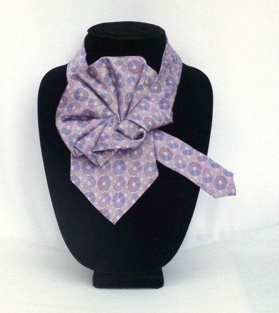Ladies Silk Necktie Scarf / Ladies Ascot / Eco Fashion Silk ...