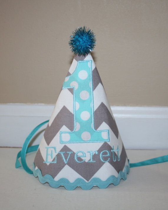 Little Boys 1st Birthday Party Hat Personalized By BlakeandBailey