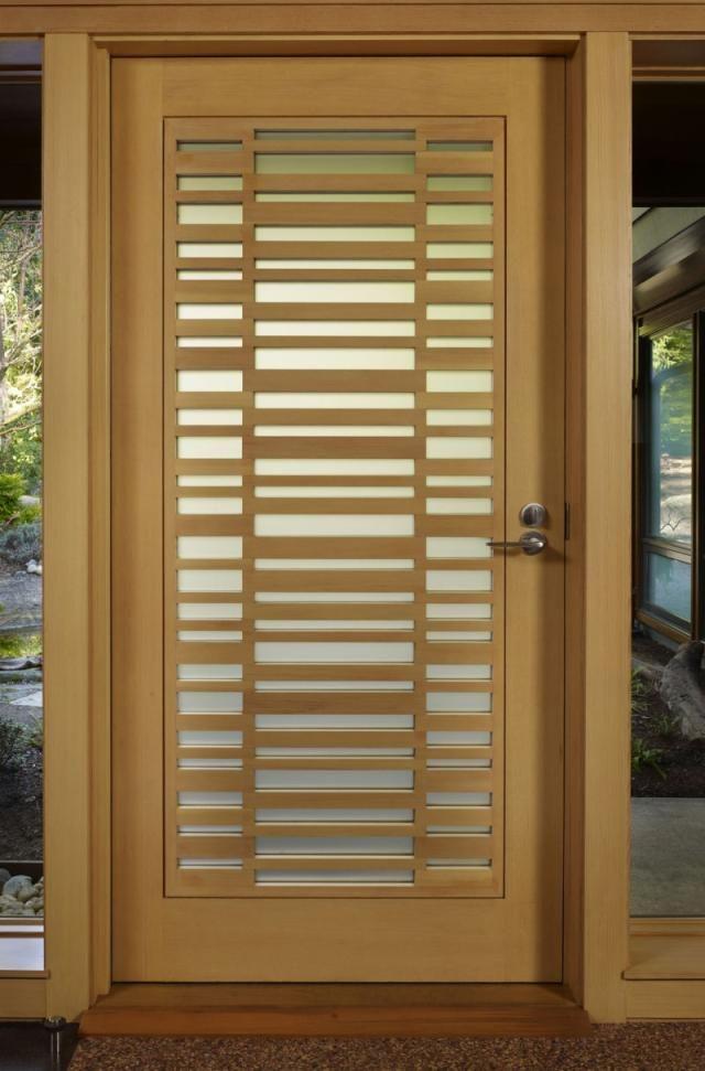 Wooden front door, wooden door