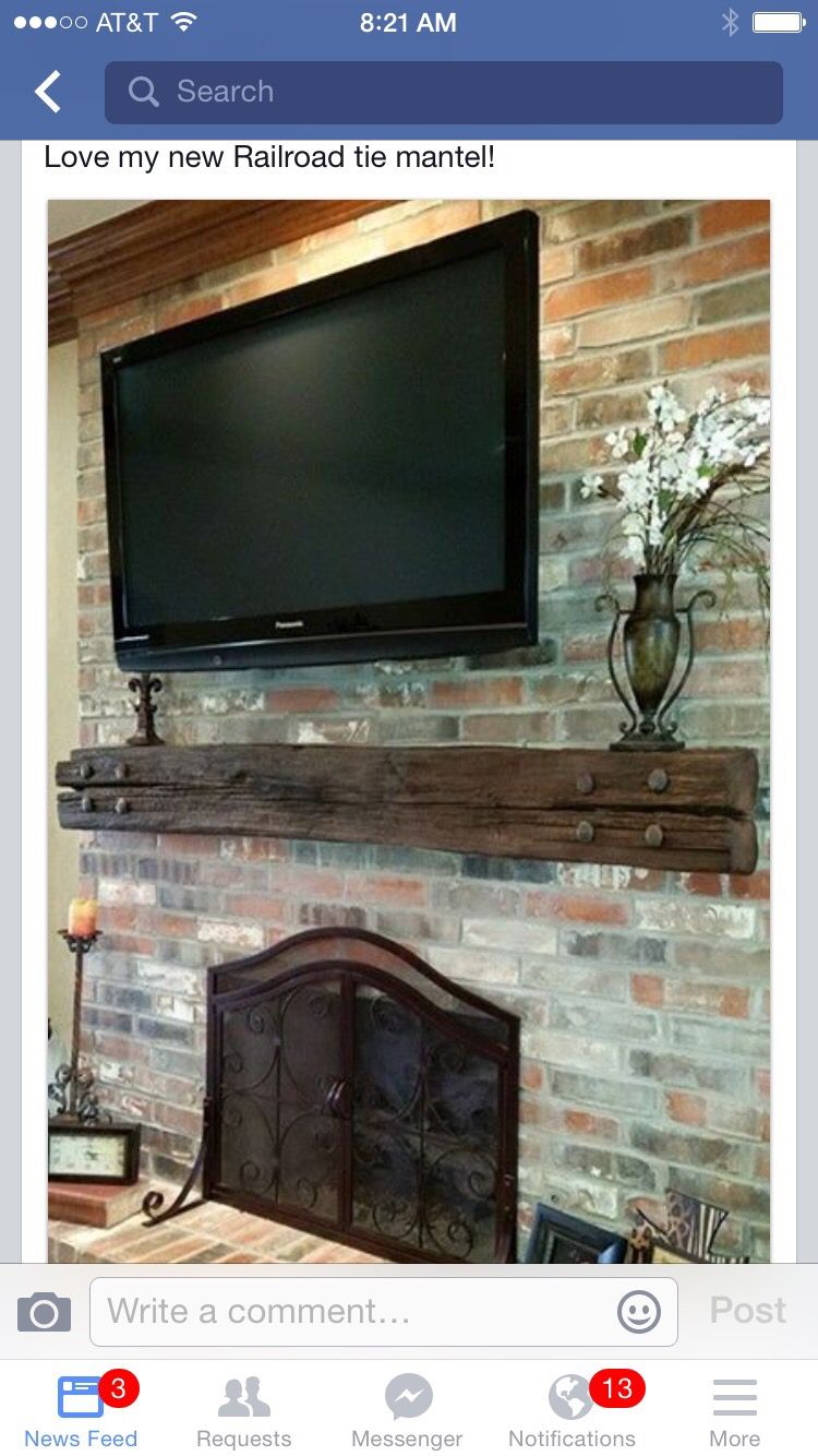 Stone fireplace with reclaimed bargeboard finish contemporary - Railroad Tie Mantle