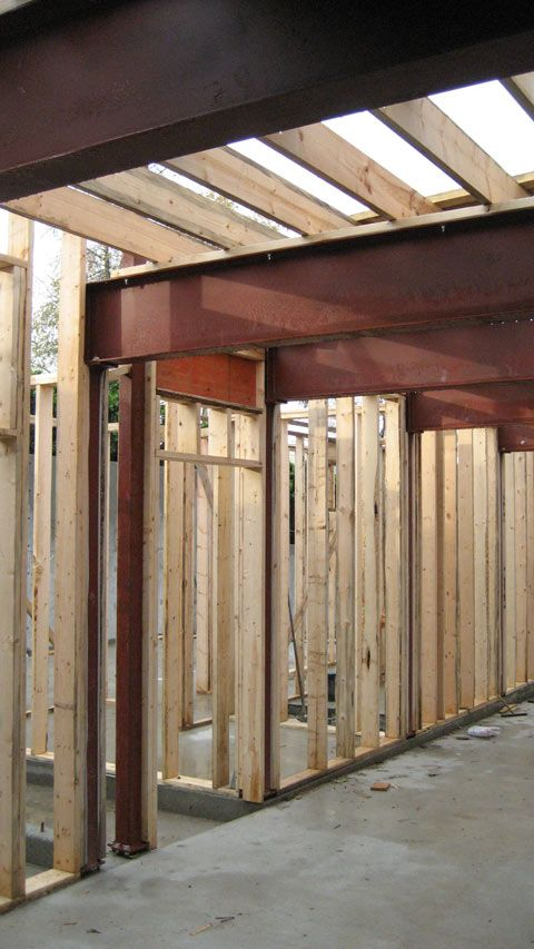 Door Header Framing Steel Beams And Steel Columns Floor
