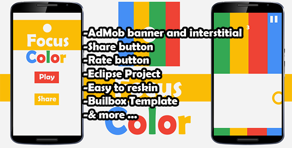 Color Switch Focus- Admob - Buildbox Game - Template Included + ...