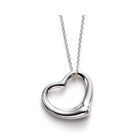 Sterling Silver Floating Heart Pendant Necklace 14 00 Our Price