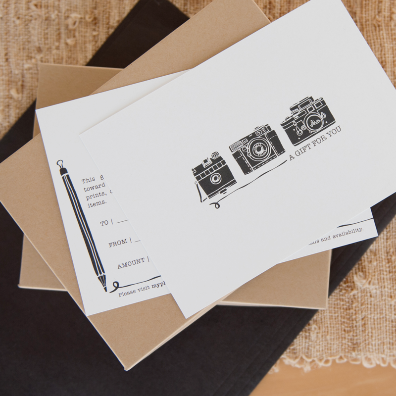 Our Creative Type Gift Certificate Templates For Photographers
