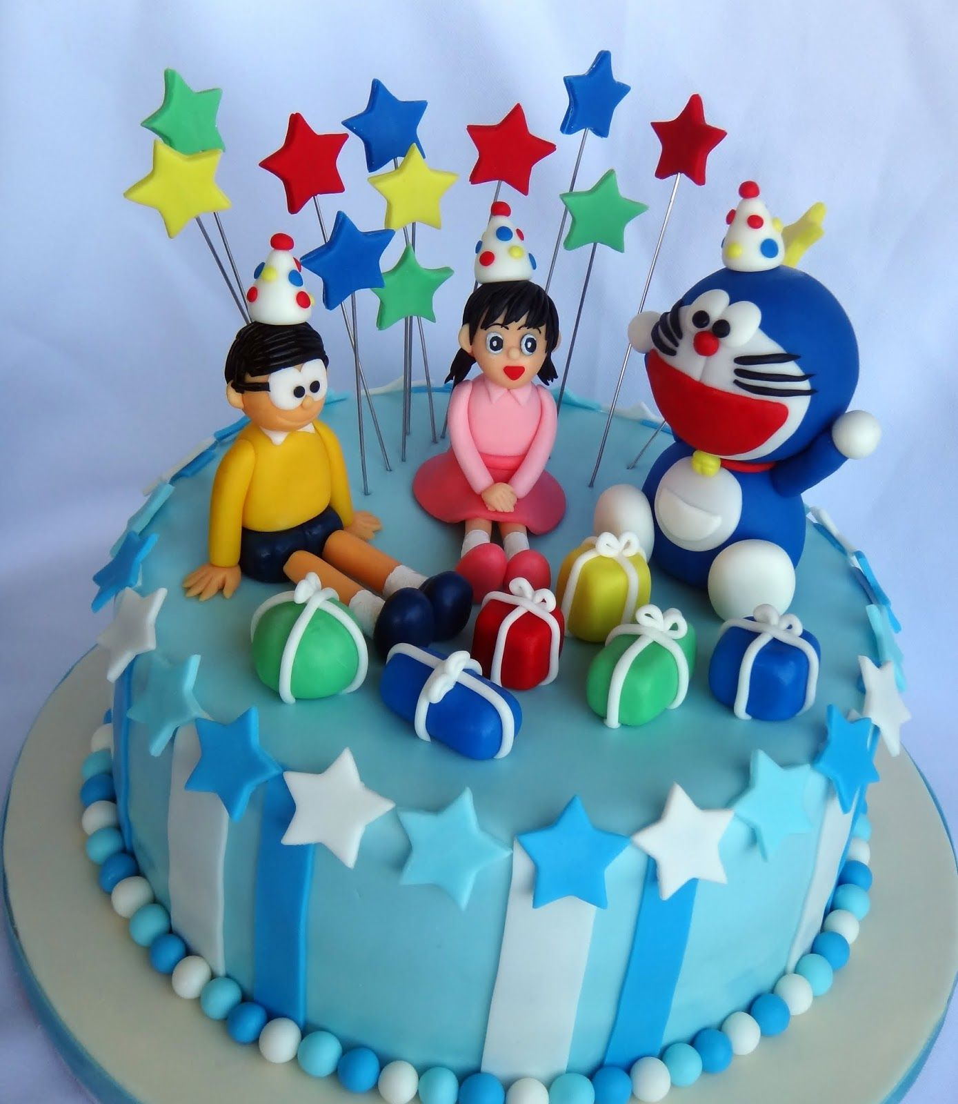 Cake Bunny Doraemon Birthday cartoon doraemon Pinterest