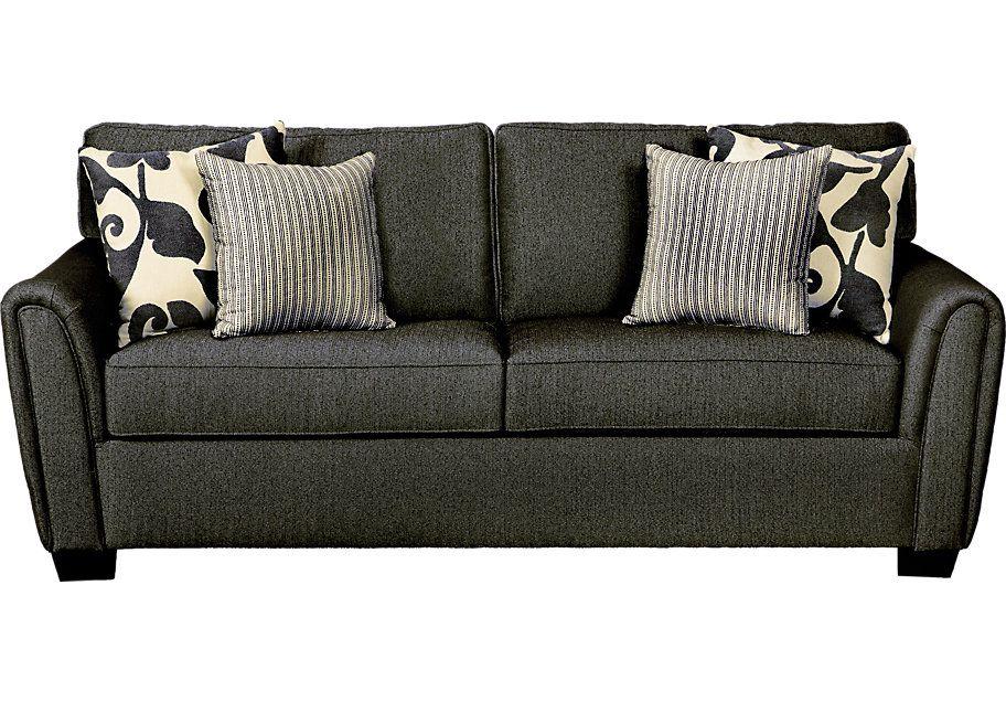 Herringbone Sofa Herringbone Textured 83 Sofa In Sand ...