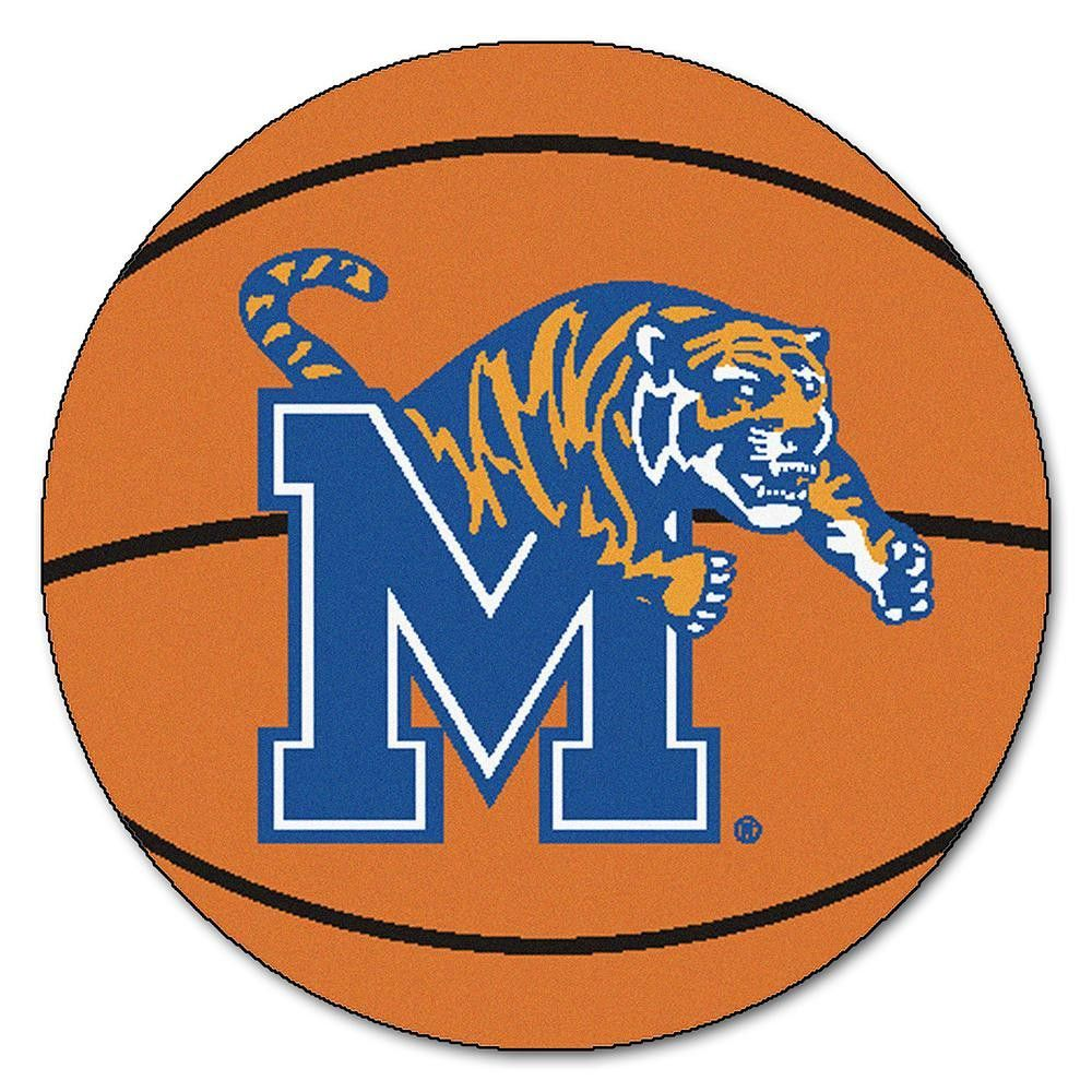Memphis Tigers NCAA Basketball Round Floor Mat (29) Area