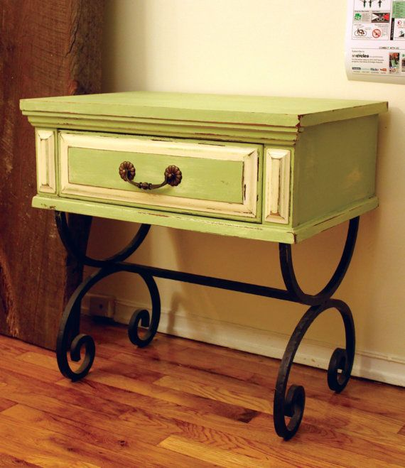 Painted Distressed Side Table..make Out Of An Old Dresser