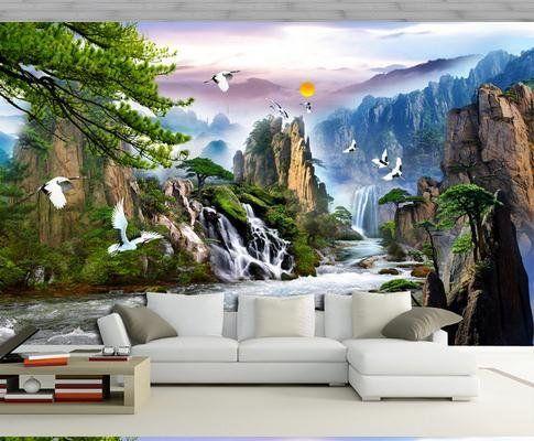Tapete Klassischen Wandmalerei Tapete Wandbild Tapeten Papel De Parede  Wandsticker