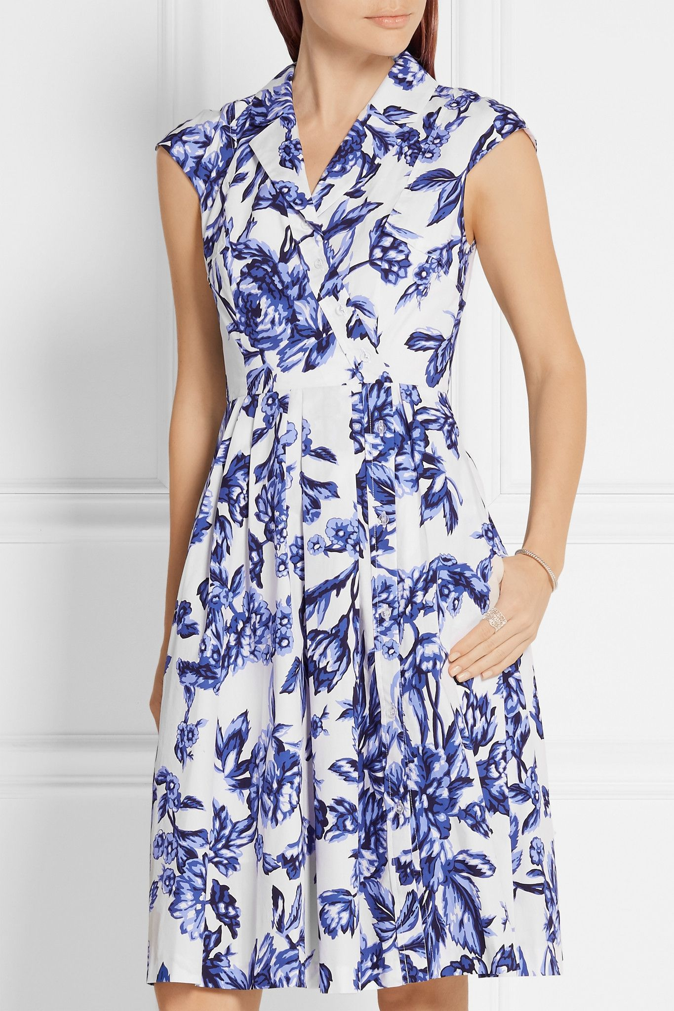 LELA ROSE Jane floral-print cotton-poplin dress $1,195.00 https://www