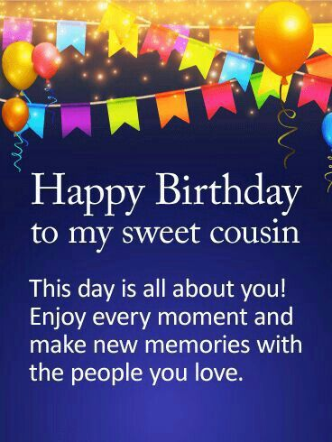 Cheerful Cousin Happy Birthday Card Amp Greeting Amazing Wish For Dear