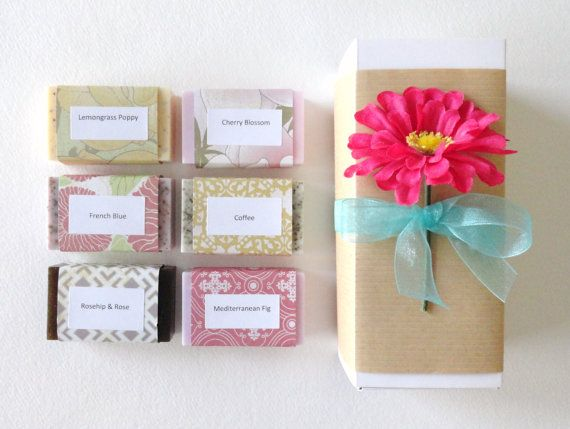 Mothers Day Gift Lovely Gift Set Handcrafted Soap Sample Soap